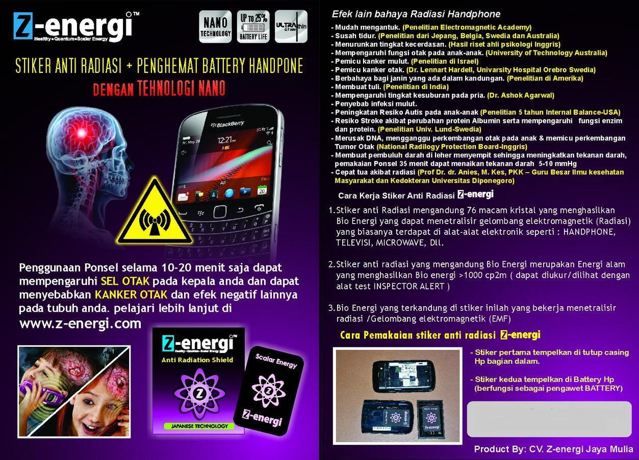 Z-energi || stiker anti radiasi ponsel