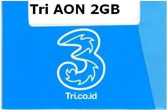 Kartu Perdana Tri AON 12 Quota 2GB