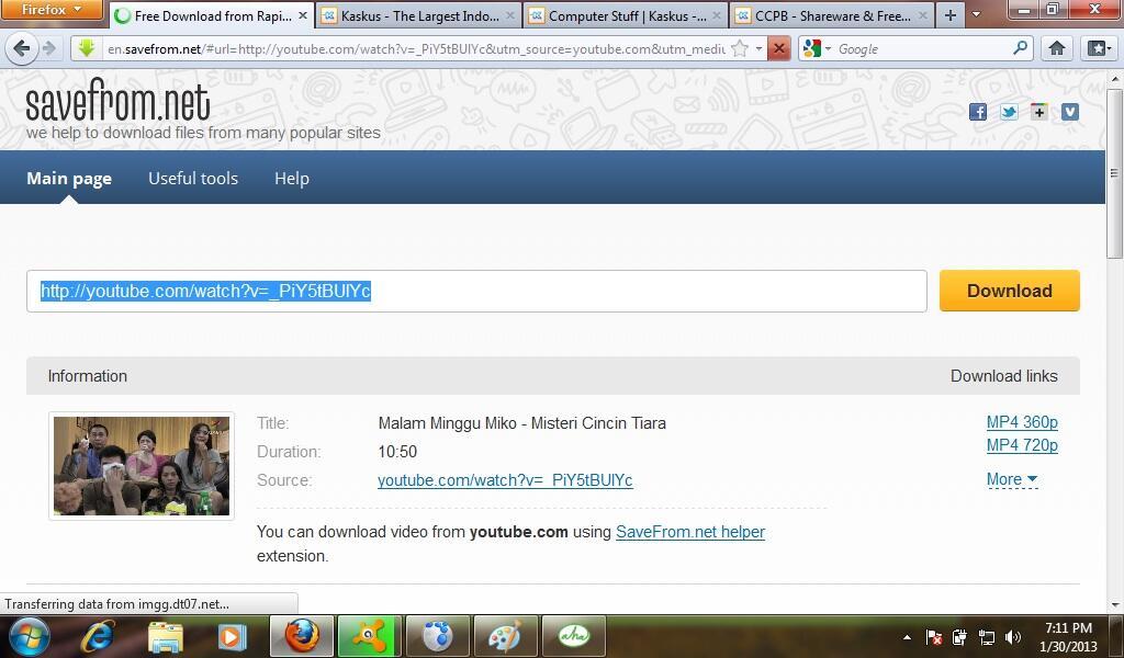 Download video dari Youtube tanpa software dan plugin apapun, bisa disemua Web Browse