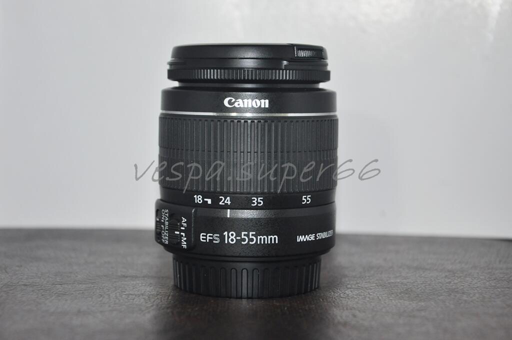 WTS Lensa kit Canon EF-S 18-55mm f/3.5-5.6 II IS masih garansi DS JOGJA
