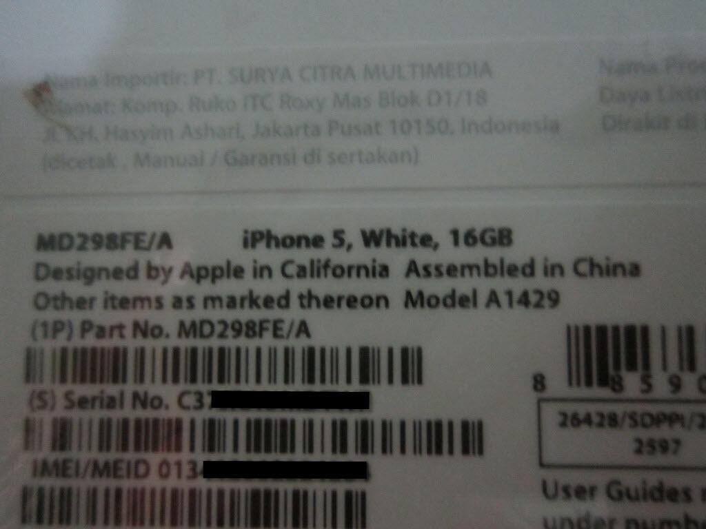 iPhone 5 16GB White, BNIB, garansi resmi lokal