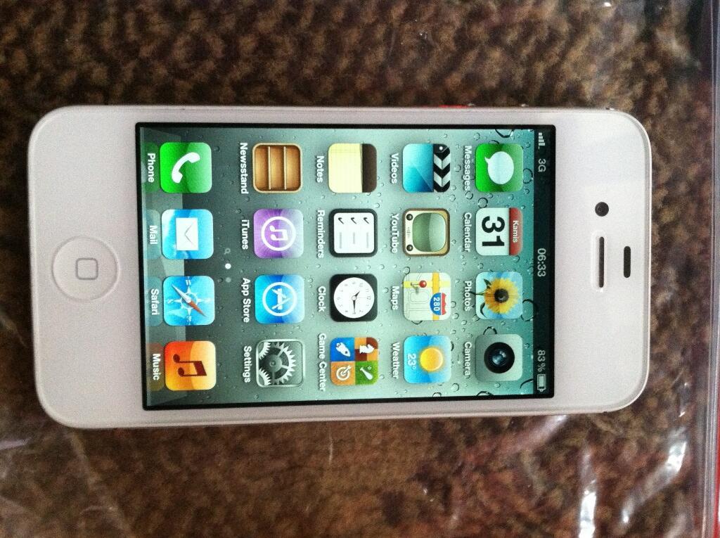 jual iphone 4g 8gb white cdma udah inject smartfren mulus 97% gan bandung!!!