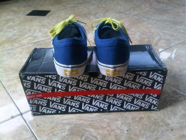 original vans era navy blue with green laces HF waffle code size 7 only1