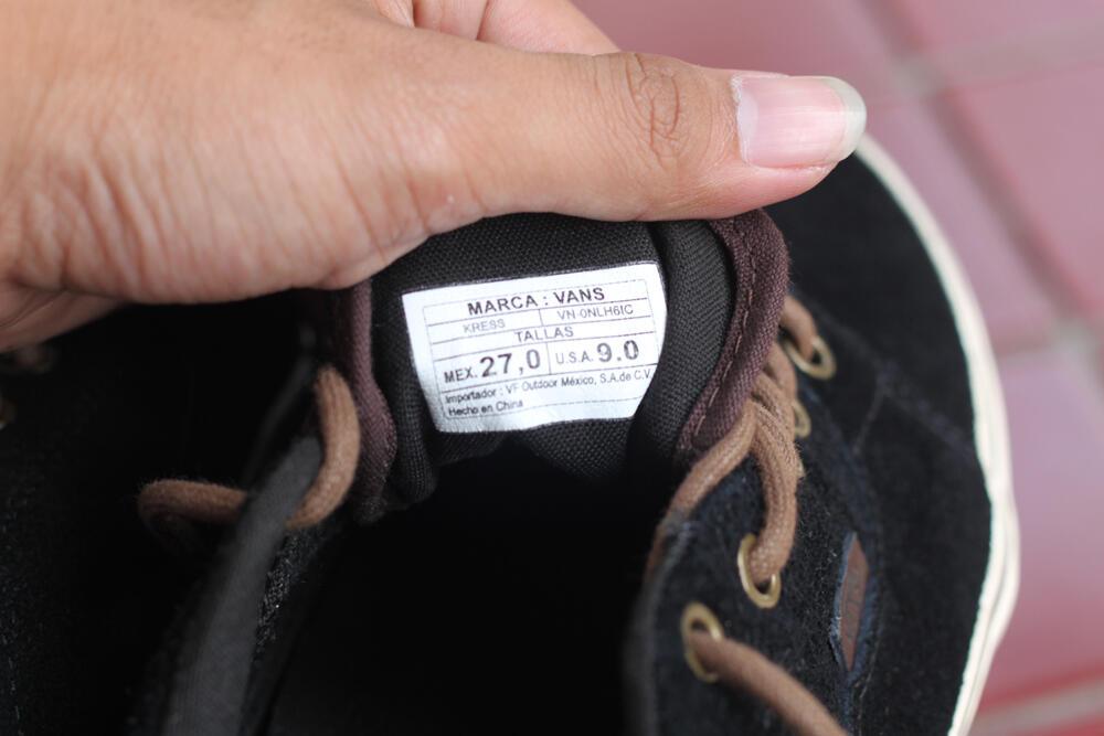 Vans kress black brown suede original COD yogyakarta