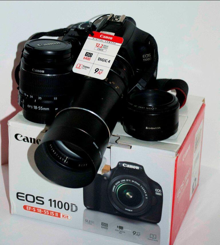 Dijual  CANON DSLR 1100D (Include 3 LENSA  Lensa Tele+Canon 18-55mm+Canon  fix 50mm) 690b5e7cfb