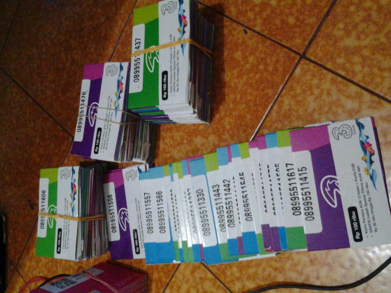 three Always On 11 digit 08995511xxx mantab......