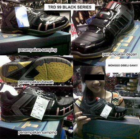 Sepatu Badminton & Running | Ardilles TRD 99 Black series ready stock uk 38-44