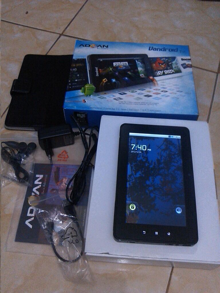 "Advan Android T1C 7"" (3G, WiFi, Hotspot portable, sim card slot, Call/SMS)"