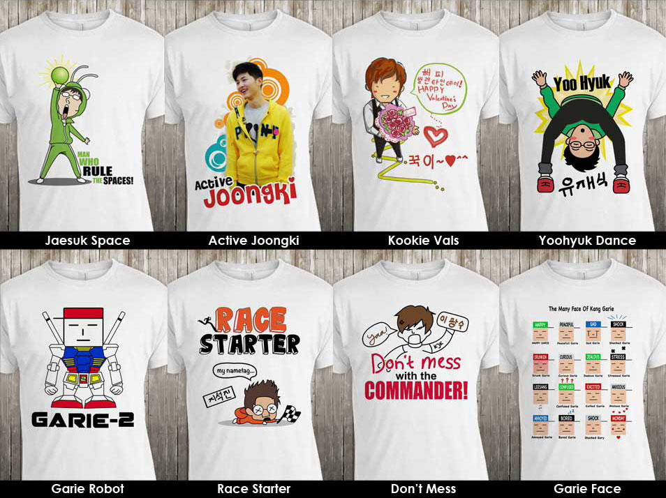 RUNNING MAN Karikatur T-shirt! READY STOCK!!