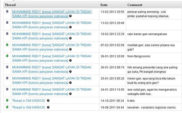 MUHAMMAD RIZKY (tvone) SANGAT LAYAK DI TINDAK SAMA KPI (komisi penyiaran indonesia)