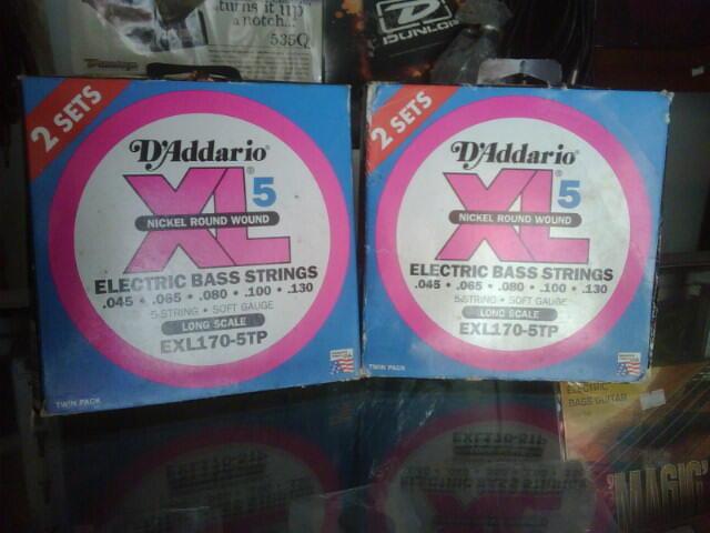 Senar Bass D'Addario 5 Senar EXL 170 ORIGINAL jual murah! barang terbatas..