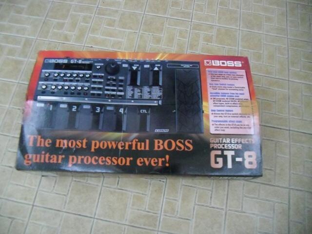 Eveck gitar digital Boss GT8. lengkap (dusk-manual-nota-adaptor)ex beli dr baru «~»