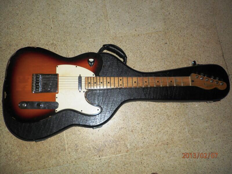 Fender Telecaster Mexico (relic), Epiphone Les Paul Standart, & Boss ME-50