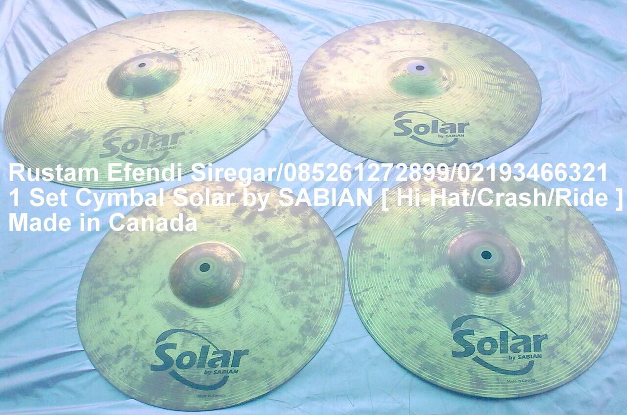 set cymbal Solar By SABIAN
