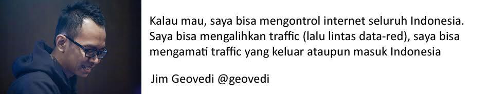 Si Pengontrol internet seluruh Indonesia