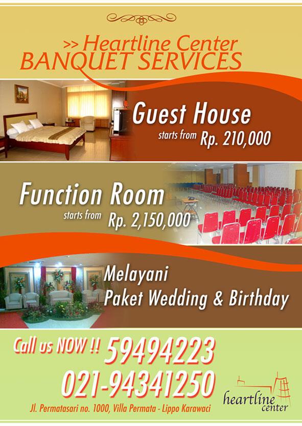 Harga Promo!! Ruang Serbaguna untuk berbagai event (Wedding, Seminar dll) -Tangerang