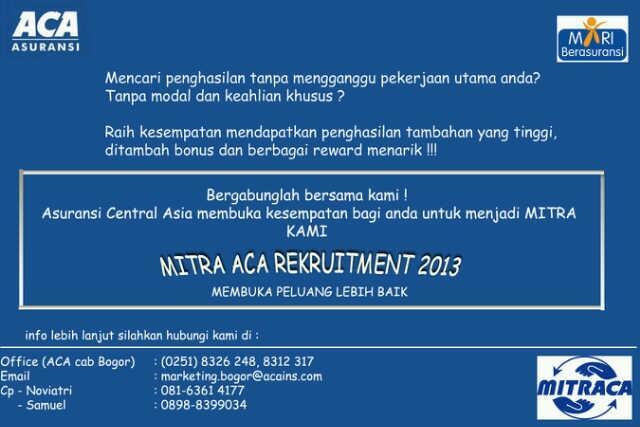 Mitra ACA Rekruitment 2013
