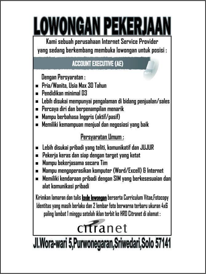 Info Lowongan Kerja Klaten  Klaten Job Seeker  Page 16  KASKUS