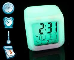 [ALL IN ONE] Jam Digital, Termometer Ruangan, Tanggal, Alarm, Lampu 7 Warna !!
