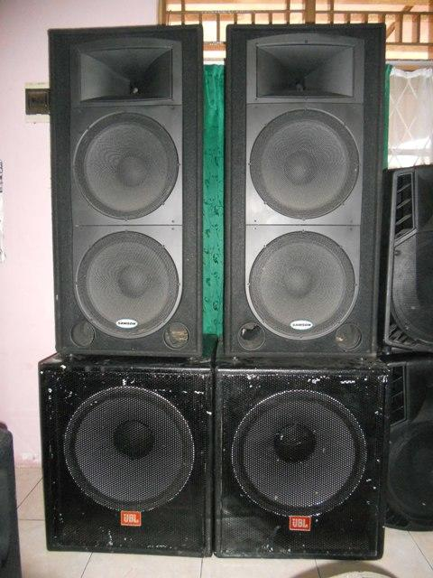 sound system with subwoofer. soundsystem :mixer, speaker samson \u0026 sub 18\ sound system with subwoofer