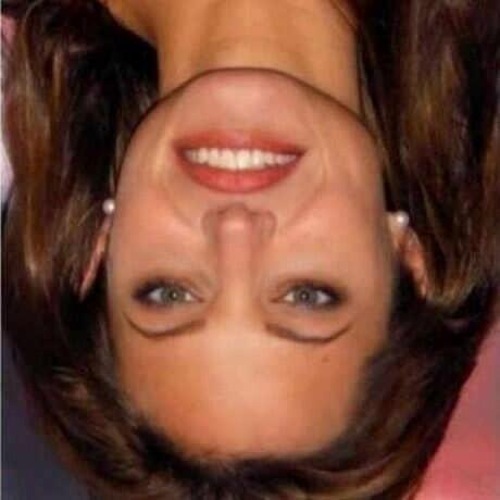 [pict inside] Putar 180 derajat gambar cewek ini, jadi aneh wajahnya