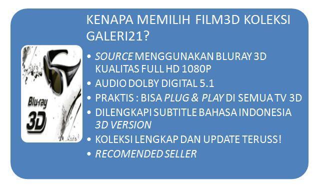 Jasa Isi Film 3D SBS 1080P dan Paket HDD 1TB Isi Full FIlm 3D