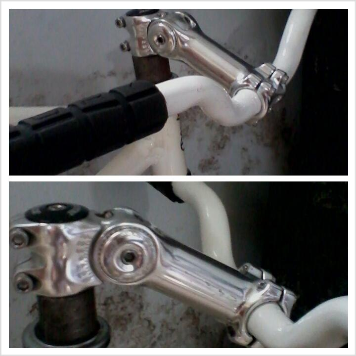 Wts stem bbb adjustable + trickbar dan grip oury