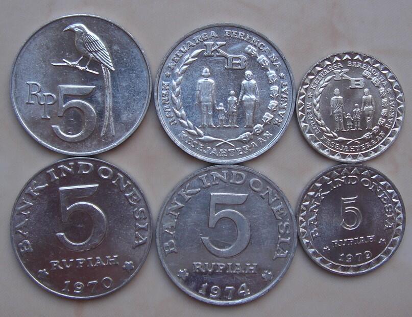 [uang kuno surabaya]koin/logam u/mahar mas kimpoi/koleksi pch1,2,5,10,25,50,100..1000