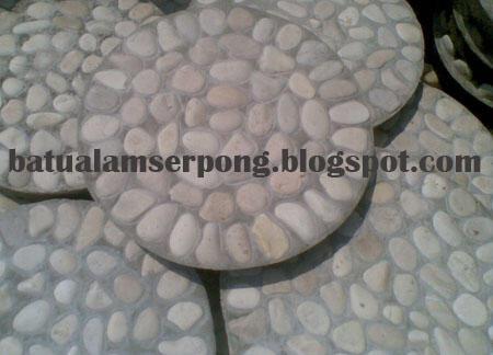 STEPPING STONE BATU KORAL SIKAT POLOS (UNTUK TAMAN, LANTAI,CARPORT)