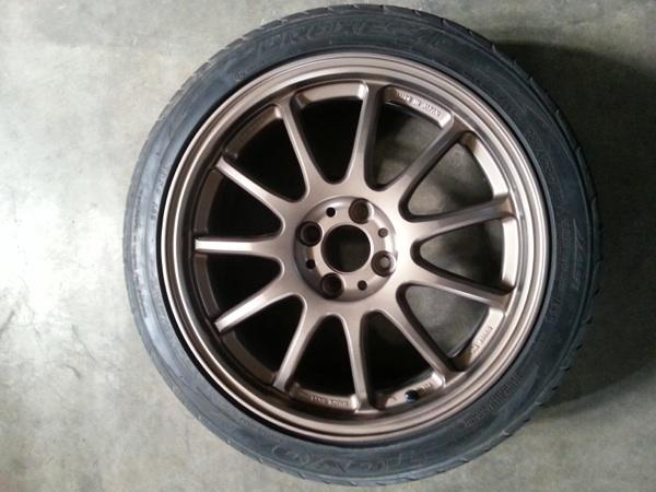 Jual velg work emotion+ ban proxes4