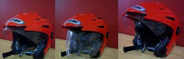 Helm INK merah, baru, murah,