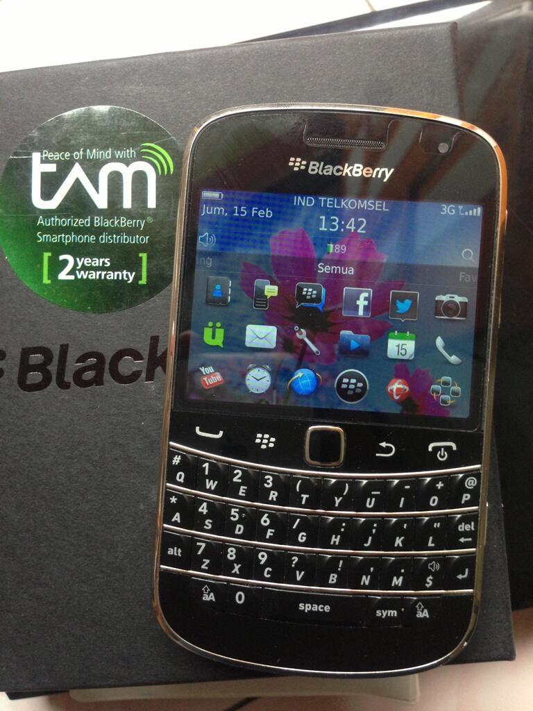 WTS: Blackberry 9900 Black TAM (Dakota) Like New Makassar
