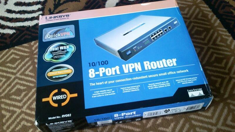 Linksys RV-082, 2 VPN 8 port Router super mulus