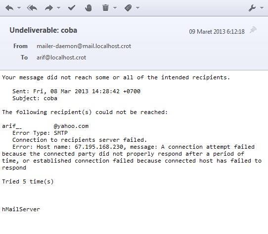 kirim email dari local mail server ke yah*o com | KASKUS