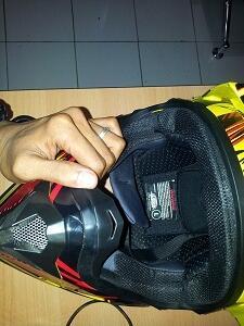 Helm cros AHRS termurah baru 1 minggu Pake