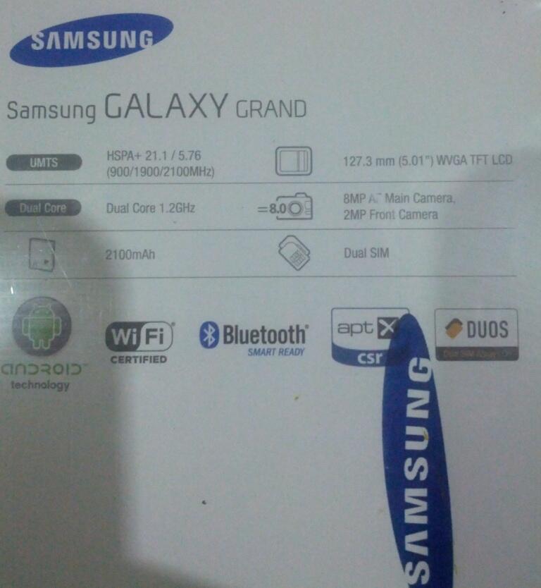 Samsung Galaxy Grand Duos I9082 Metallic Blue, Dual Sim Dual On