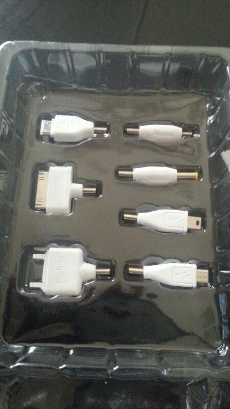 kabel powerbank dan kelengkapan nya merk yoobau ..lengkap Murahh