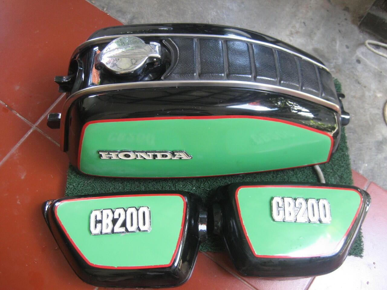 Tengki n tutup aki Honda CB200