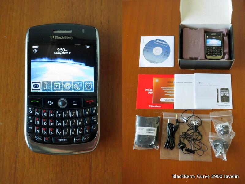 "Jual BlackBerry Curve 8900 ""Javelin"" Selular Shop MULUS Box Pocket Handsfree"