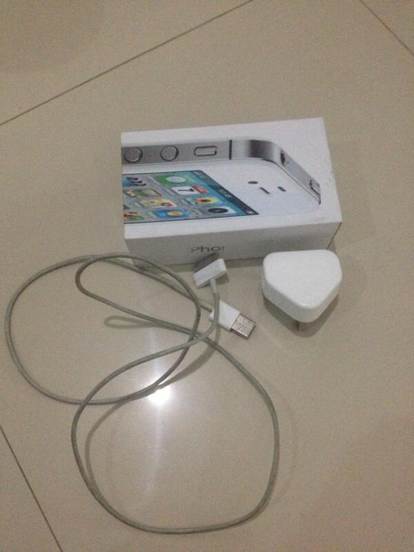 jual iphone 4s white(putih) 16gb mulus gan