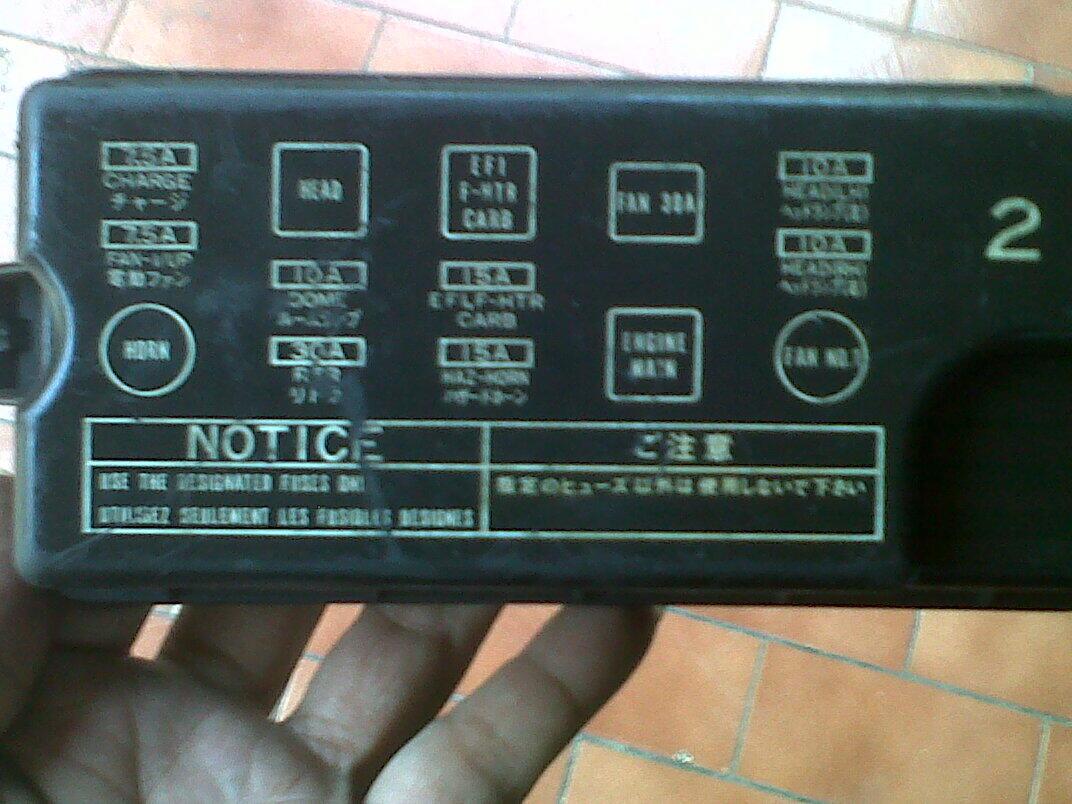 Part Twincam GTi Lifback AE92 4AGE Fusebox Consolebox