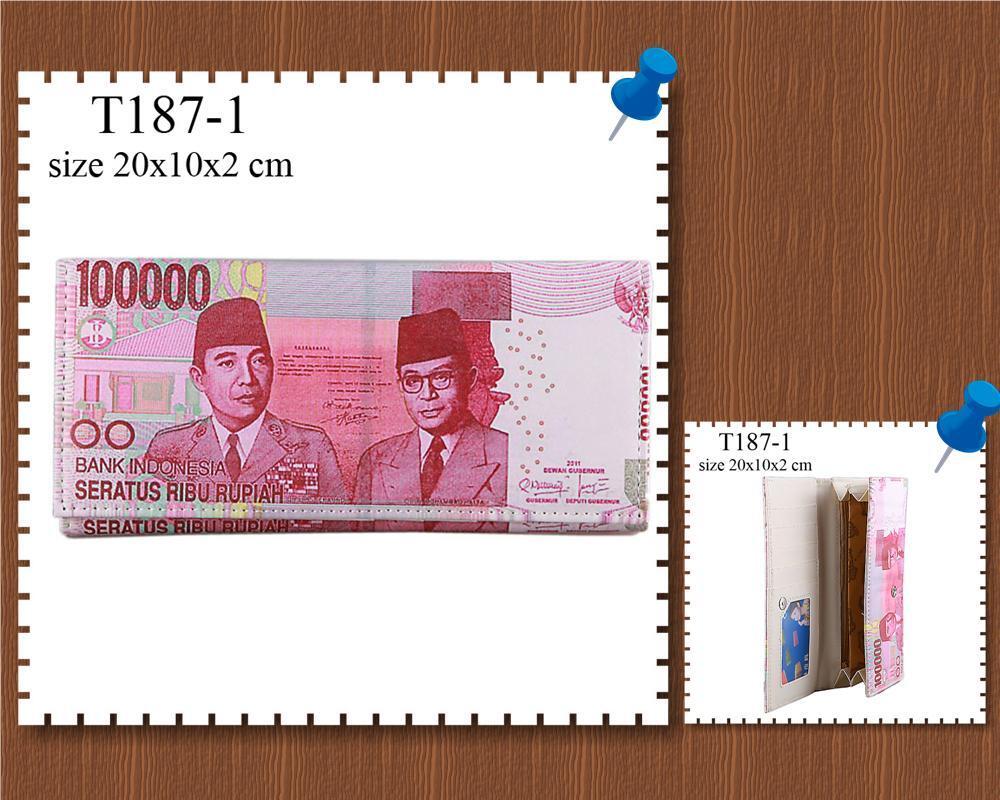 Dompet unik bergambar mata uang dan gambar2 lainnya murah reseller welcome