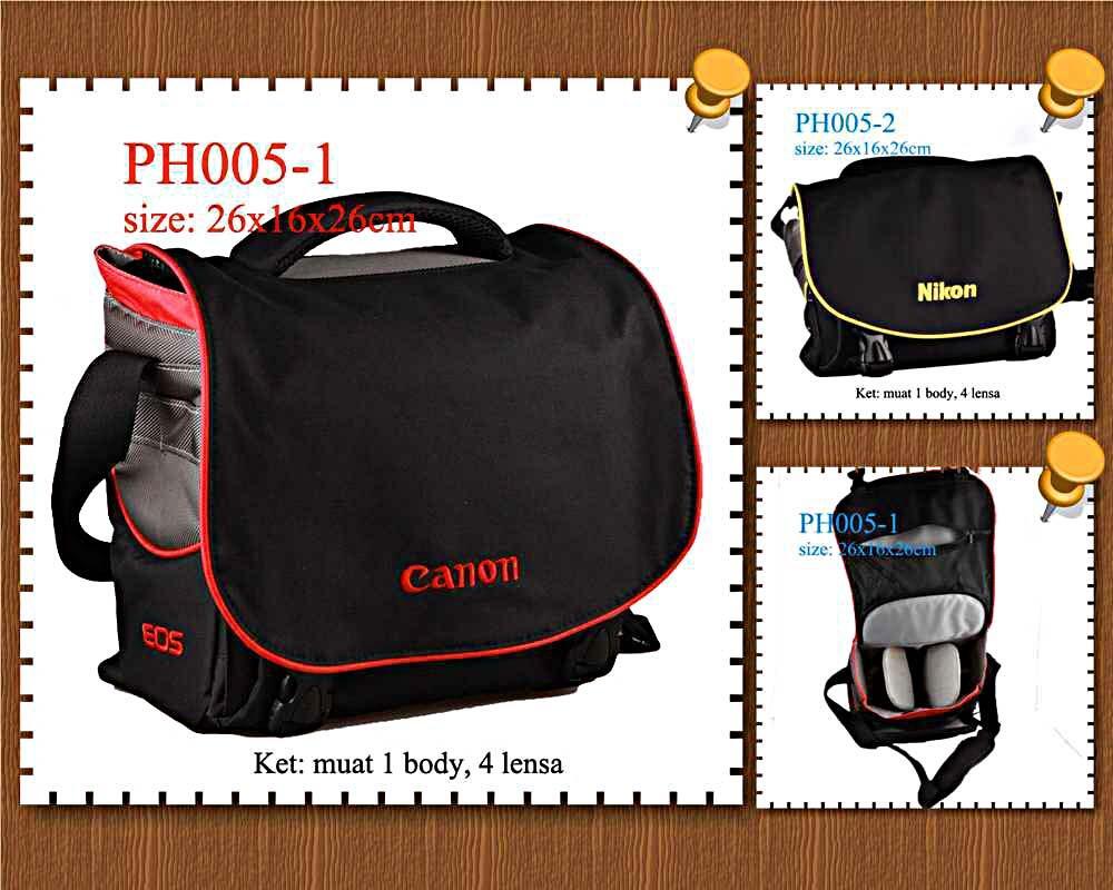 TAS kamera canon,nikon impor bahan bagus untuk foto/photografi. flash trigger har