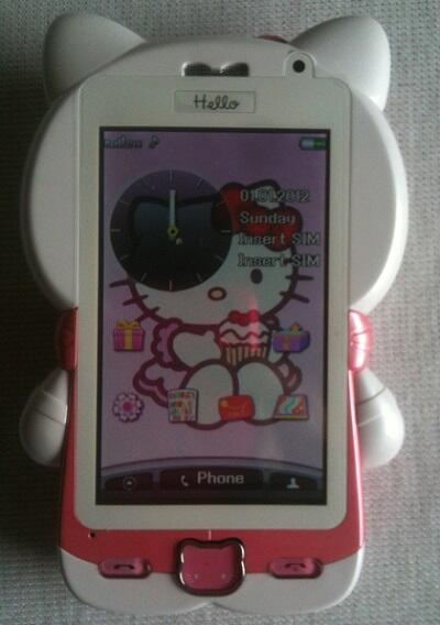 Handphone Hello kitty Fullbody toucscreen dual sim dual camera dan TV