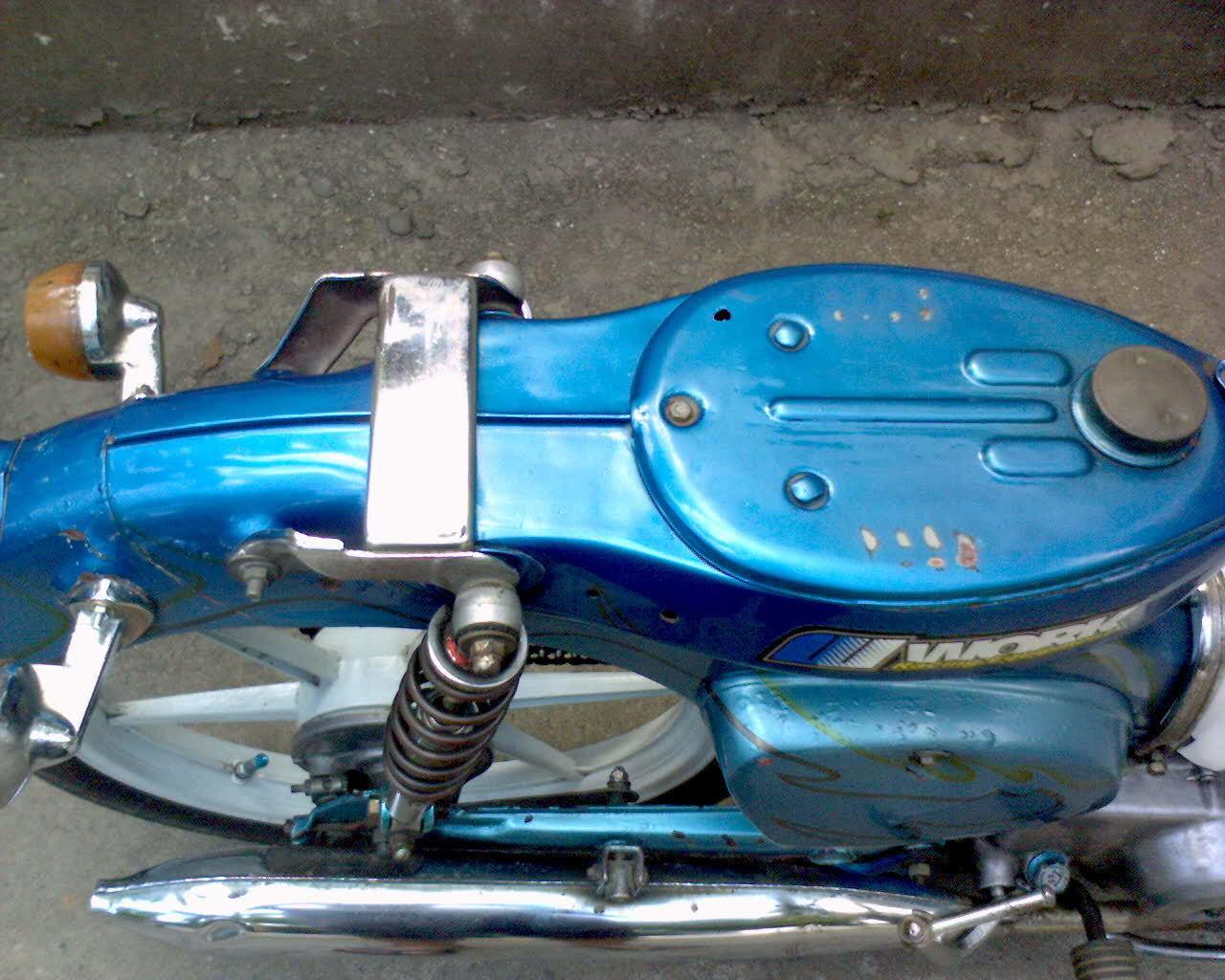 Honda C70 Pitung Biru Plat AB Pajak Hidup Tahun 1976
