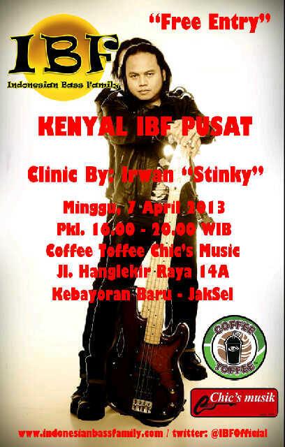 IBF (indonesia bass family) present clinic IRWAN STINKY