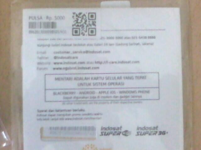 Perdana Indosat Paket Blackberry GAUL JAZZ 4 Bulan