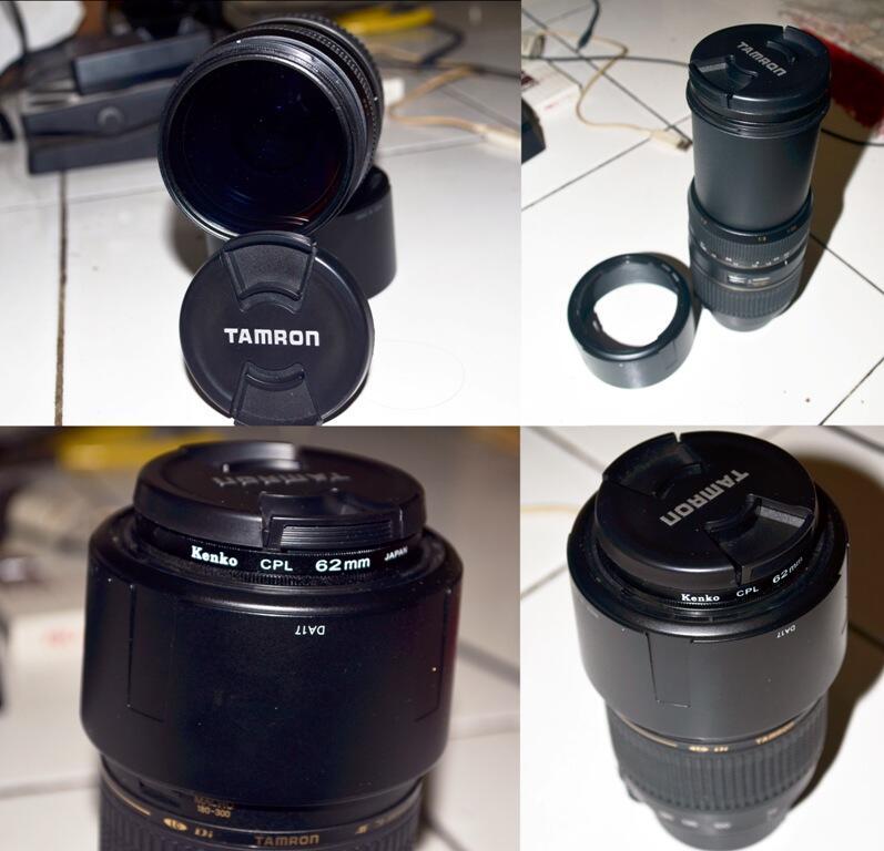 JUAL SANTAI LENSA TAMRON AF 70-300mm Di LD for Nikon + NIKKOR AF-S 18-55mm DX VR