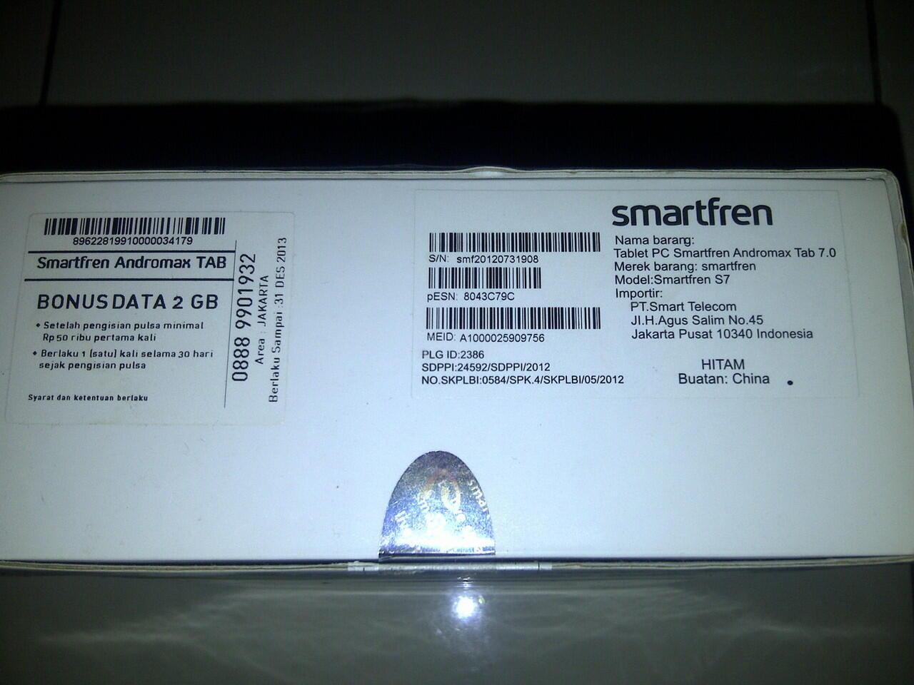 Smartfren Andromax Tab 7.0 Second