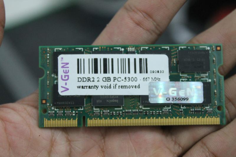 Jual ram laptop sodim 2GB V-gen PC-5300 ddr2 (2nd) murah gan